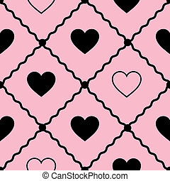 seamless vector background with hearts
