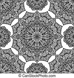 seamless, vector background with oriental mandalas