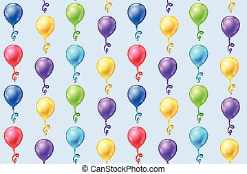 Seamless vector background with party balloons