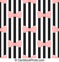 Seamless vector bows stips pattern - Seamless vector pattern...