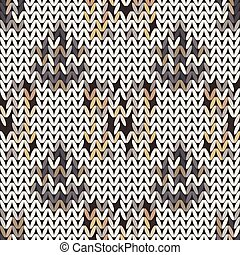 Seamless vector chevron pattern fabric textile