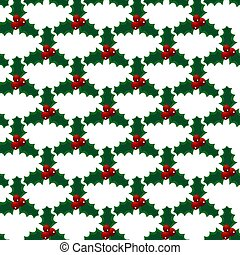 Seamless vector christmas mistletoe bright art pattern