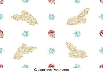 Seamless Vector Christmas pattern on a white background