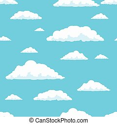 Seamless vector clouds pattern