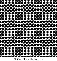 seamless, vector, conexión cadena, dibujo de círculo, plano de fondo