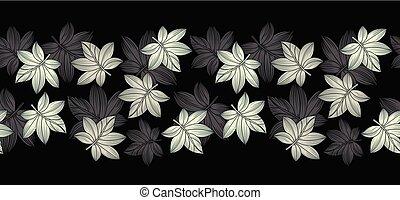Seamless vector creative leaves border