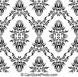 Seamless vector damask texture