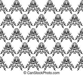 Seamless vector damask texture