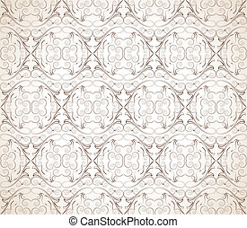 Seamless vector damask wallpaper