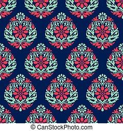 Seamless vector damask wallpaper
