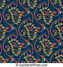 Seamless vector floral paisley
