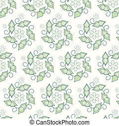 Seamless vector floral pattern background