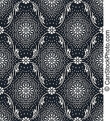 Seamless vector floral pattern design