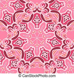 Seamless vector floral pattern oriental background