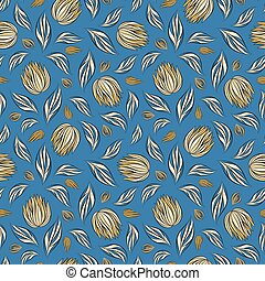 Seamless vector floral pattern with abstract flowers and...