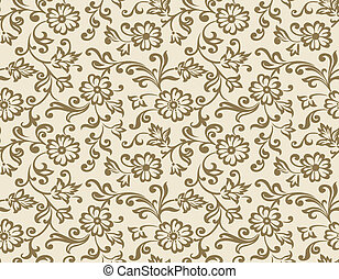 Seamless vector floral wallpaper