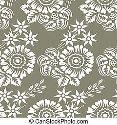 Seamless vector flower pattern design