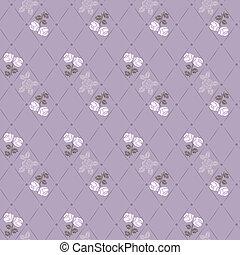 Seamless vector flower pattern