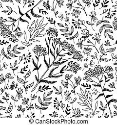 Seamless vector flowers pattern