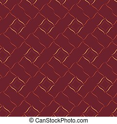 Seamless vector geometric pattern based on Arabic ornament in dark red colors