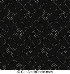 Seamless vector geometric pattern based on Arabic ornament in monochrome black colors