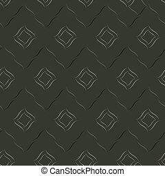 Seamless vector geometric pattern based on Arabic ornament in monochrome black colors on dark background