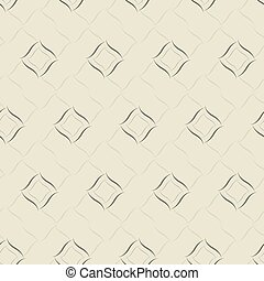 Seamless vector geometric pattern based on Arabic ornament in monochrome gray colors on light background