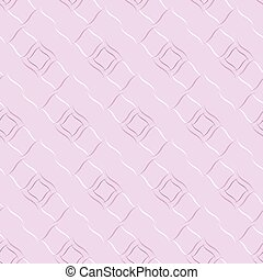 Seamless vector geometric pattern based on Arabic ornament in pastel baby-pink colors on light background