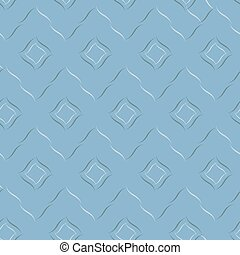 Seamless vector geometric pattern based on Arabic ornament in pastel light blue colors