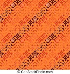 seamless vector geometric pattern in orange