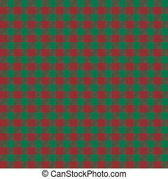 Seamless vector green and red scottish background.