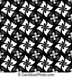 Seamless vector hand drawn abstract pattern