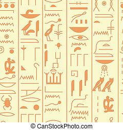 Seamless vector hieroglyph - EPS10 file. Seamless vector...