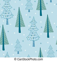 Seamless vector illustration with winter.