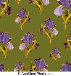 Seamless vector iris pattern 1