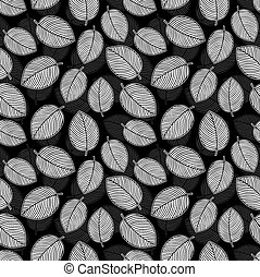 Seamless vector leaves background