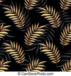 Seamless vector leaves pattern design