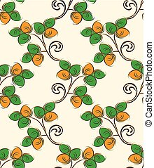 Seamless vector leaves pattern