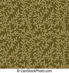Seamless vector leaves wallpaper