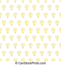 Seamless vector light bulbs pattern