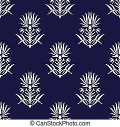 Seamless vector lotus flower pattern design
