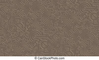 Seamless Vector Mechanical Pattern Texture. Isolated. Steampunk. Metallic. Beige color