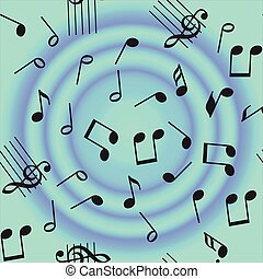 Seamless vector music notes pattern