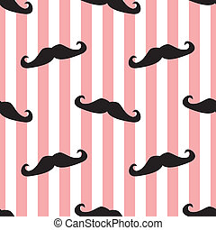 Seamless vector mustache background