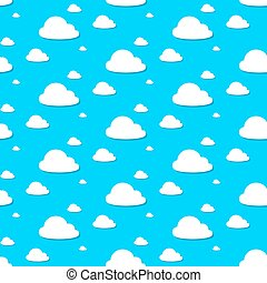 Seamless vector of cloudy blue sky pattern