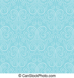 Seamless vector ornament on a blue background