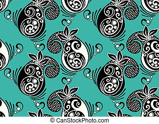 Seamless vector paisley pattern design