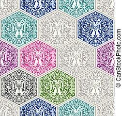 Seamless vector paisley wallpaper