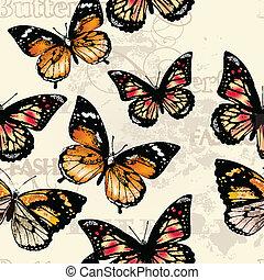 seamless, vector, patrón, papel pintado