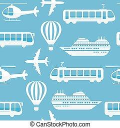 Seamless vector pattern background transport